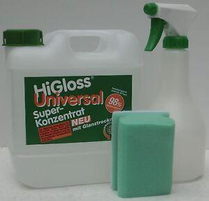 HiGloss 2 Liter Universal Super-Konzentrat Set mit Glanztrockner bekannt aus TV