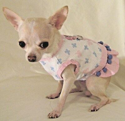 Dog Harness Set/Dog Dress/Dog vest/Brilliant Butterfly-SIZE  M or L FREE SHIP