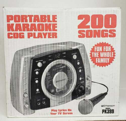 Emerson Karaoke Portable Karaoke CDG System with 200 Songs