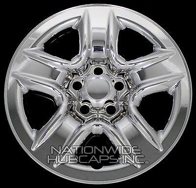 4 New 2006 2012 Toyota RAV4 17 Chrome Wheel Skins Hub Caps Full Rim Skin Covers