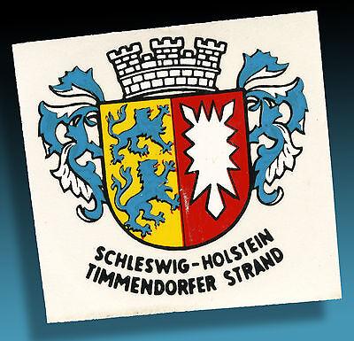 TIMMENDORFER STRAND | SCHÖNER ALTER KOFFERAUFKLEBER LUGGAGE LABEL 50er /2