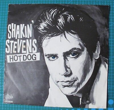Holland IMPORT 45 RPM & Picture Sleeve Shakin' Stevens Hot Dog b/w Apron 1980