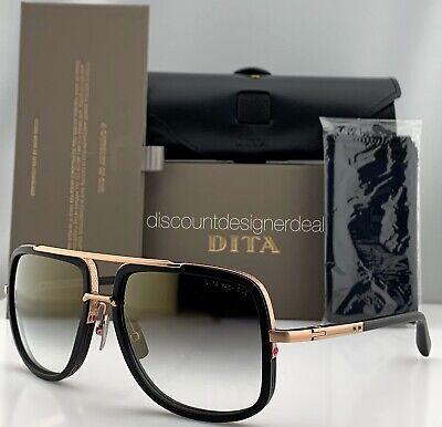 DITA MACH ONE Square Sunglasses Black Rose Gold Gold Gradient Flash (Mens Rose Gold Sunglasses)