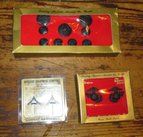 USMC Buttons, Chevrons ++   -  NEW