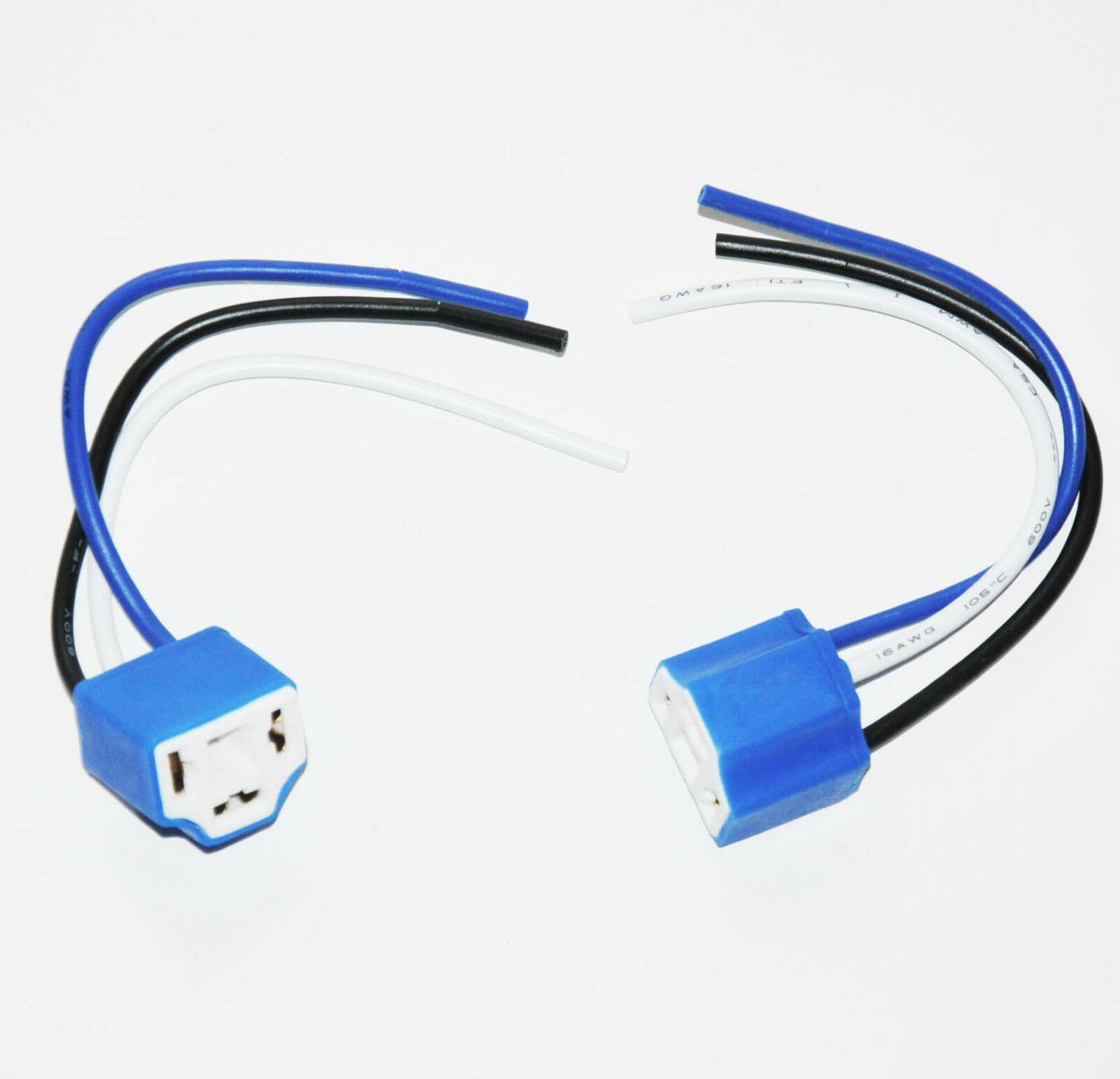 Two Wire Pigtail Female 9003 Hb2 H4 Hs1 Harness Ceramic Wiring An Outlet 1 Of 10free Shipping Connector Socket
