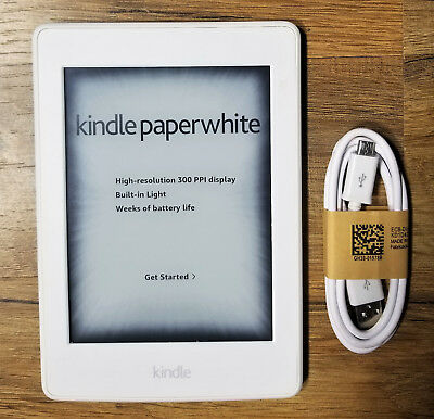 Amazon Kindle Paperwhite 3rd (7th Generation) 4GB, White, 300PPI, WiFi, E-reader