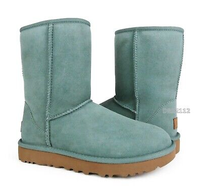 Used, UGG Classic Short II Sea Green Suede Fur Boots Womens Size 10 ~NIB~ for sale  Shipping to Canada