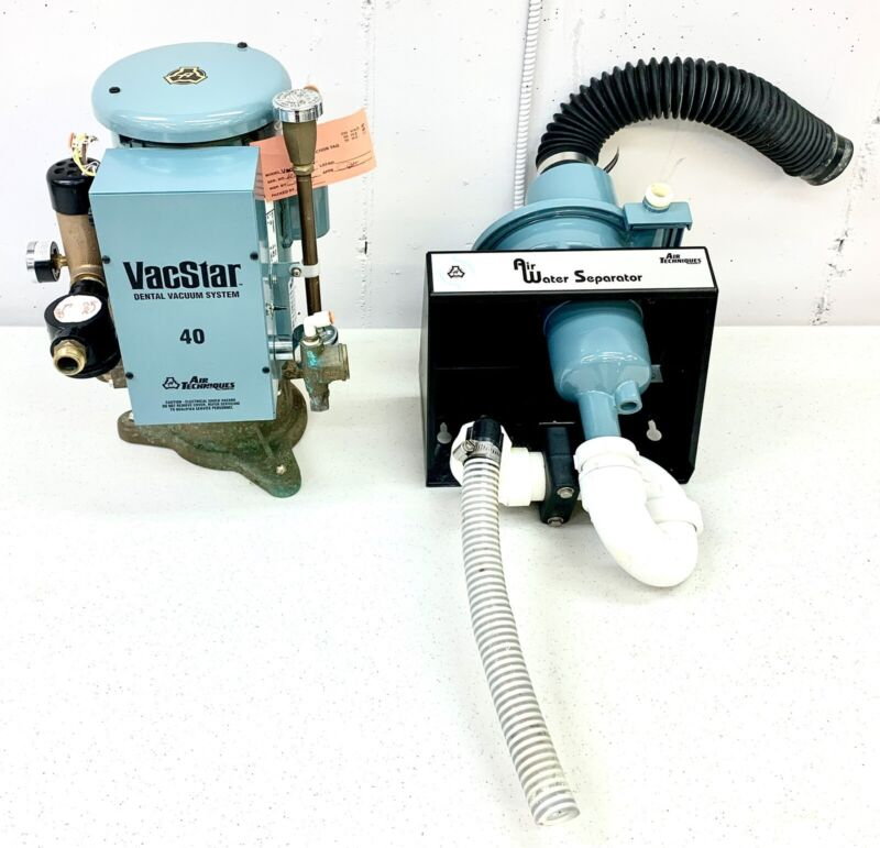 Air Techniques VacStar 40 Dental Vacuum Pump With Hydromiser - MFG Date 2007