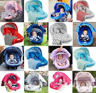 - The Whole Caboodle 5 Pc Set for Baby Car Seat Carseat Canopy Cover Blanket New