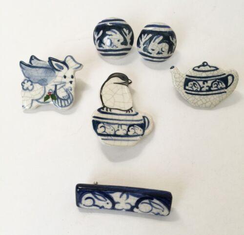 Dedham Pottery Lot of 5 Jewelry