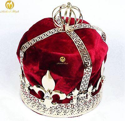 For Men Tiara Diadem Imperidal Medieval Red Velvet Crown Rhinestone Parade Party](Ruby Tiara)