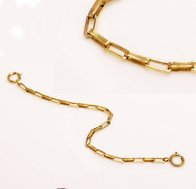 14k Gold Fill Necklace - 14k gold filled box Extender Safety Chain Necklace Bracelet  lock  1