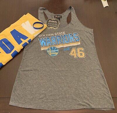 NBA Golden State Warriors Women's Tank NWT Sequin Glitter S M L FREE (Nba Golden State Warriors Bracelet)