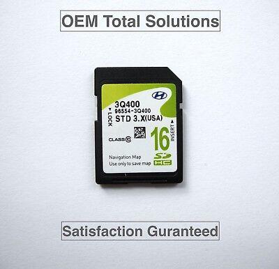 Oem-factory Nav (Genuine 2014 Factory Hyundai Sonata Navigation Map OEM SD Card 96554-3Q400 USA )