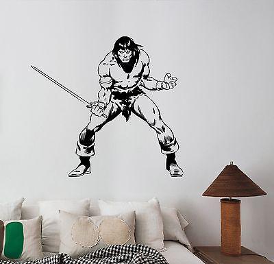 Conan the Barbarian Wall Decal Movie Vinyl Sticker 90s Art Room Vintage Decor c2 - 90s Room Decor