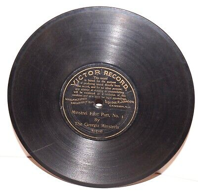 """RARE Antique 7"""" 1st VICTOR RECORD A-508 Phonograph Gramophone 1901"""