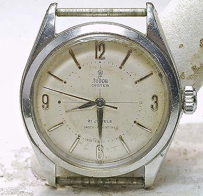 1960 Rolex Case Tudor Steel 21 Jewel Waterproof Wind up Men's Wrist watch #7934