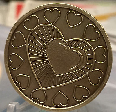 My Heart Is In Recovery Medallion Chip Coin AA Bronze One Day At A Time ODAAT