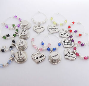 Heart-Top-Hats-Wedding-WINE-GLASS-Charms-favours-table-gifts-bride-groom-party