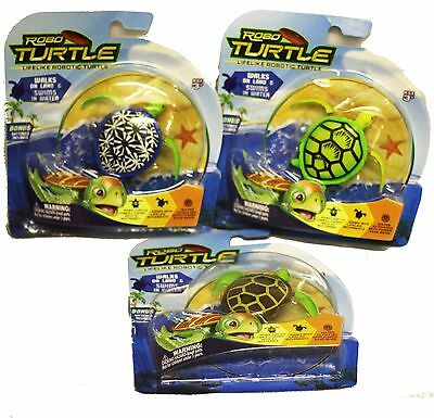 Robo Turtle Lifelike Kids Pet PlaySet Robotic Swim Walk Children Fun Toy Gift