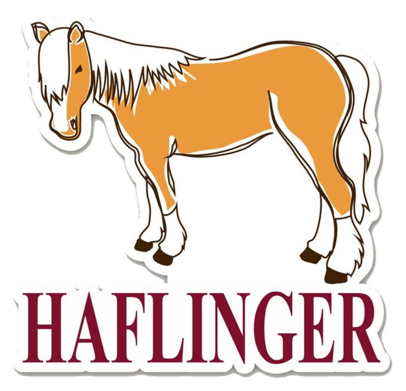 Haflinger Horse Die-Cut Vinyl Sticker Decal + I Love My Haflinger Vinyl Sticker