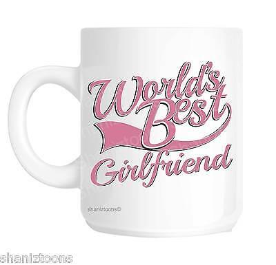 Girlfriend World's Best Pink Novelty Gift Mug (World's Best Girlfriend Mug)