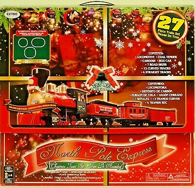 EZTEC 27 Piece North Pole Express Christmas Train Set #62180 NEW