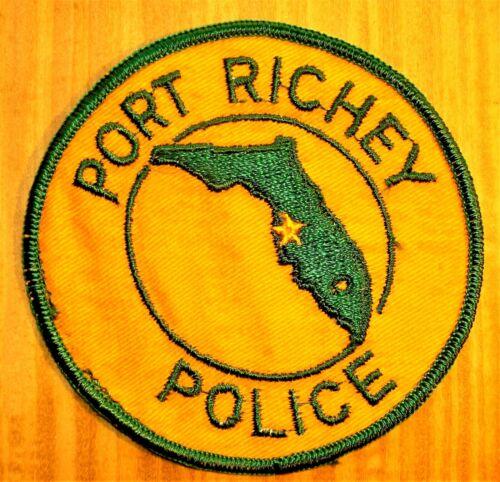 GEMSCO NOS Vintage Collectible Patch POLICE PORT RICHEY FL - Original 45+
