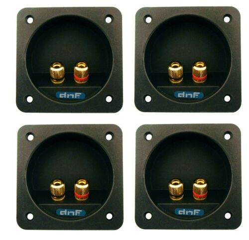 (4 PACK) SPEAKER BOX TERMINAL SQUARE TWIST CUP CONNECTOR SUBWOOFER ENCLOSURE