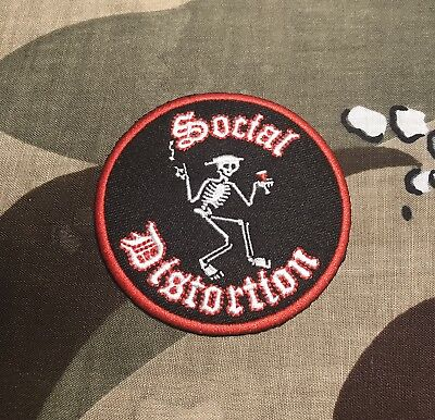 Social Distortion Embroidered Skeleton Patch S005P Rancid Nofx Misfits