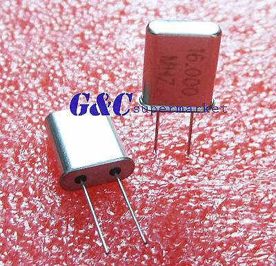 50pcs 16 Mhz 16.000 Mhz Crystal Oscillator Hc-49u Good Qualit C3