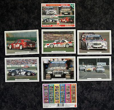 DTM SAISON '95 TOP ASS SAMMELSET 2 - 6 COLLECTION CARDS 10x15 CM - OVP - SELTEN