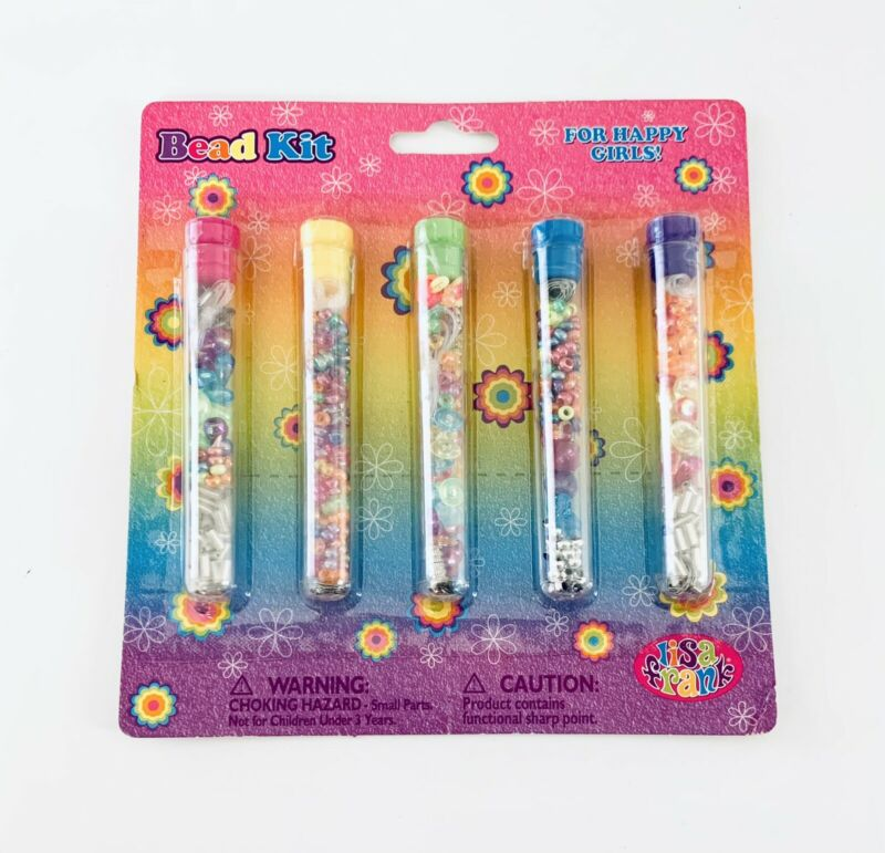 Lisa Frank Craft Bead Set Kit Make Jewelry NEW 5 Different Necklaces Or Rings
