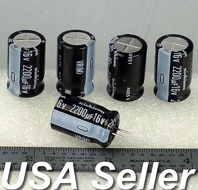 2200uf 16v Nichicon Vr Series Low-esr Electrolytic Capacitors 5-20pcs -usa Ship