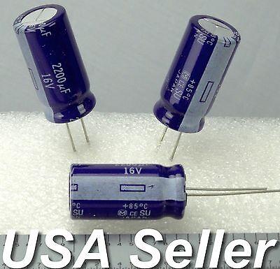 2-5pcs 2200uf 16v Panasonic Su Series Japan Electrolytic Capacitors Usa Shipping