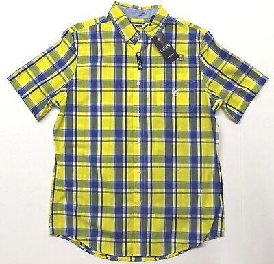 Men's Chaps Easy Care Woven Short Sleeve Button-Down Shirt (718B35) -