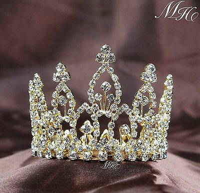 Bulk Tiaras (2pcs Kids Mini Flower Rhinestone Crown Bride Tiara Prom Party Bridal)