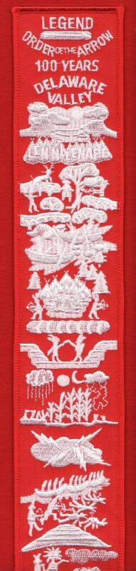 ALL GHOST EMBROIDERY OA LEGEND Sash Patch Strip Order of the Arrow Boy Scout