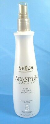 - NEXXUS NEXXSTYLER ALCOHOL FREE SHEER VOLUME SPRAY GEL 13.5 OZ NEW