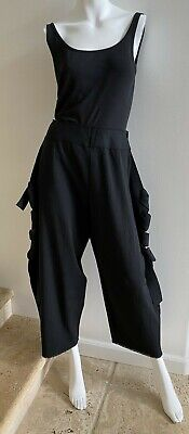 NWOT ISSEY MIYAKE A POC INSIDE Black Knit Ankle Pants   Size 2/Small