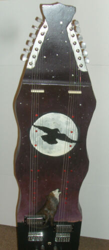 Electric Slide LAP STEEL GUITAR Twin Neck Double 6 String Guitar Raven & Wolf