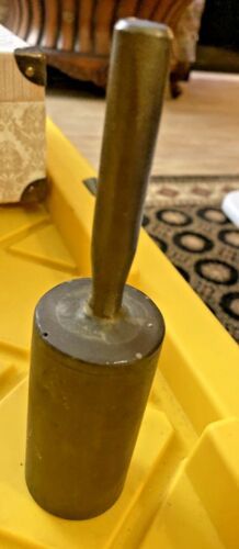 VTG  Bronze Tall School Dinner Hand Bell  MAY NEED POLISHING SBC