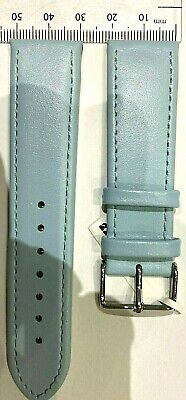 CONDOR LIGHT BLUE PADDED CALF LEATHER WATCH STRAP 283R