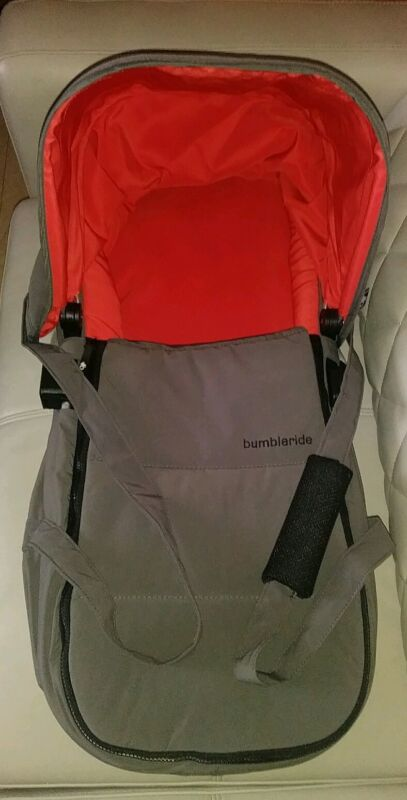 BUMBLERIDE GRAY ORANGE BABY INDIE CARRYCOT BASSINET GREAT CONDITION L@@K
