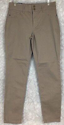 New Soho New York & Company Womens Beige Jeans Pants High Waist Leggings Size 12