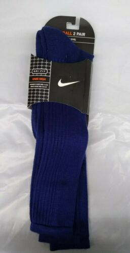 Nike Dri-Fit Baseball Knee High Socks (Navy, 9-11)