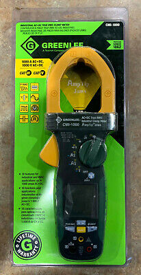 Greenlee Cmi-1000 Industrial Ac Dc True Rms Clamp Meter - Brand New Free Ship