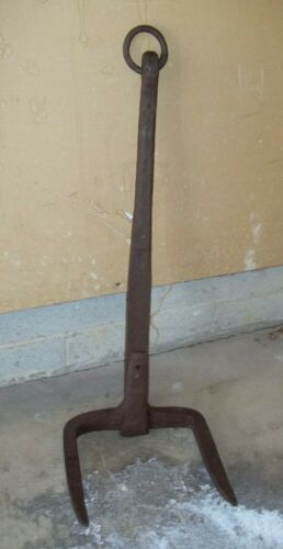 Antique Hand Forged Iron Anchor - 18th or 19th Century: A SHORE THING!