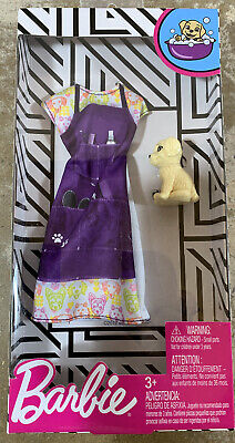 Barbie Clothes -- Career Outfit Doll, Pet Groomer With Dog, Multicolor