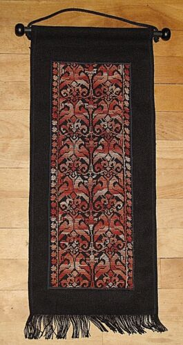 OLD AUTHENTIC BEDOUIN EMBROIDERY ISRAEL WALL HANGING TAPESTRY TEXTILE LAKIYA